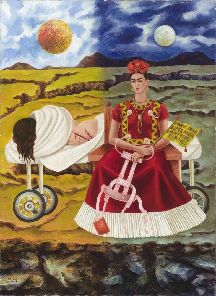 Frida Kahlo Tree Of Hope, Canvas, Frida Kahlo, kanvas tablo, canvas print sales