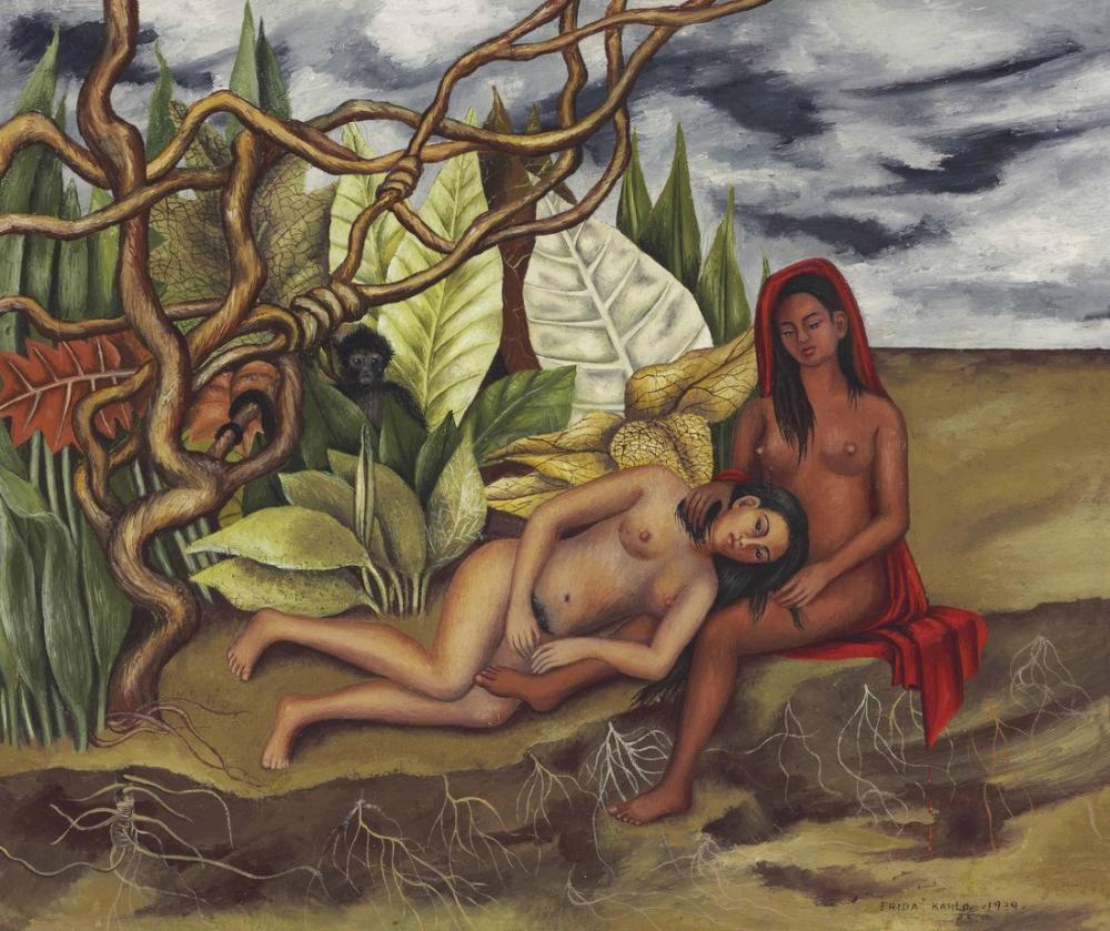 Frida Kahlo Ormanda İki Çıplak, Kanvas Tablo, Frida Kahlo, kanvas tablo, canvas print sales