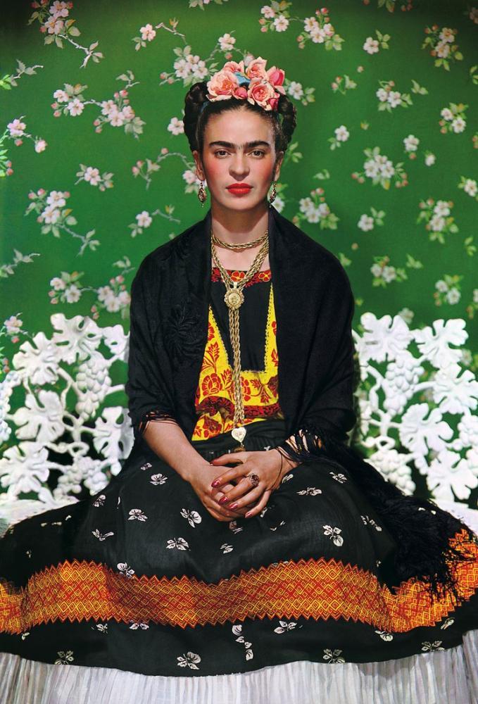 Frida Kahlo Beyaz Bank, Kanvas Tablo, Frida Kahlo, kanvas tablo, canvas print sales