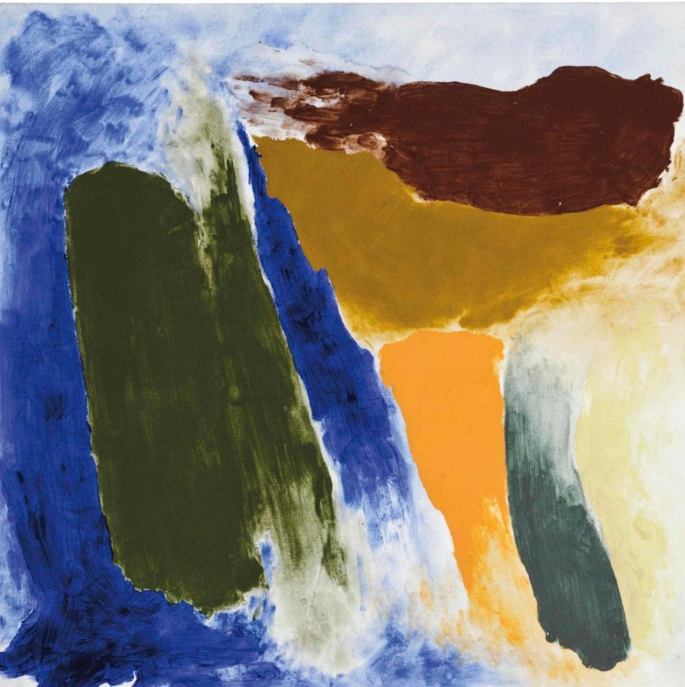 Friedel Dzubas Blau, Canvas, Friedel Dzubas, kanvas tablo, canvas print sales