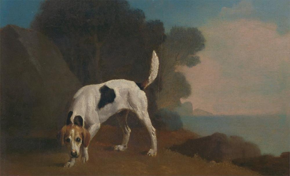 George Stubbs, Tilki Tazısı, Kanvas Tablo, George Stubbs, kanvas tablo, canvas print sales