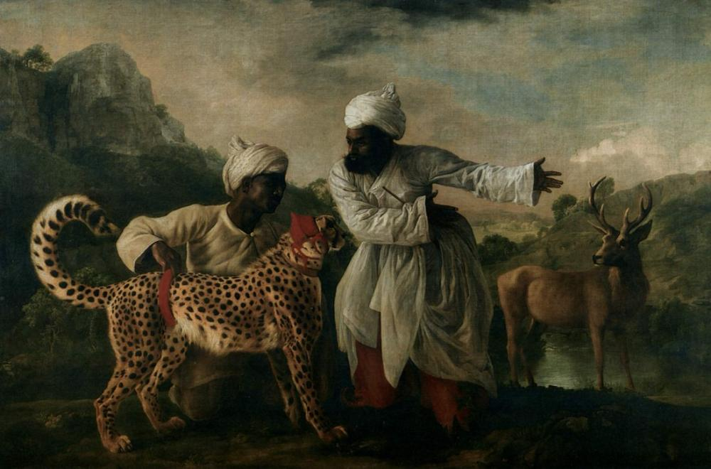 George Stubbs, Cheetah with Two Indian Servants and a Deer, Canvas, George Stubbs, kanvas tablo, canvas print sales