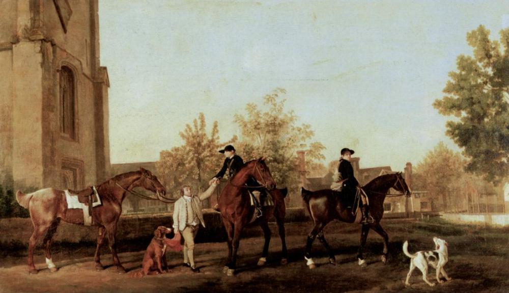 George Stubbs, Avcılar Güneyi Terk Ediyor, Kanvas Tablo, George Stubbs, kanvas tablo, canvas print sales