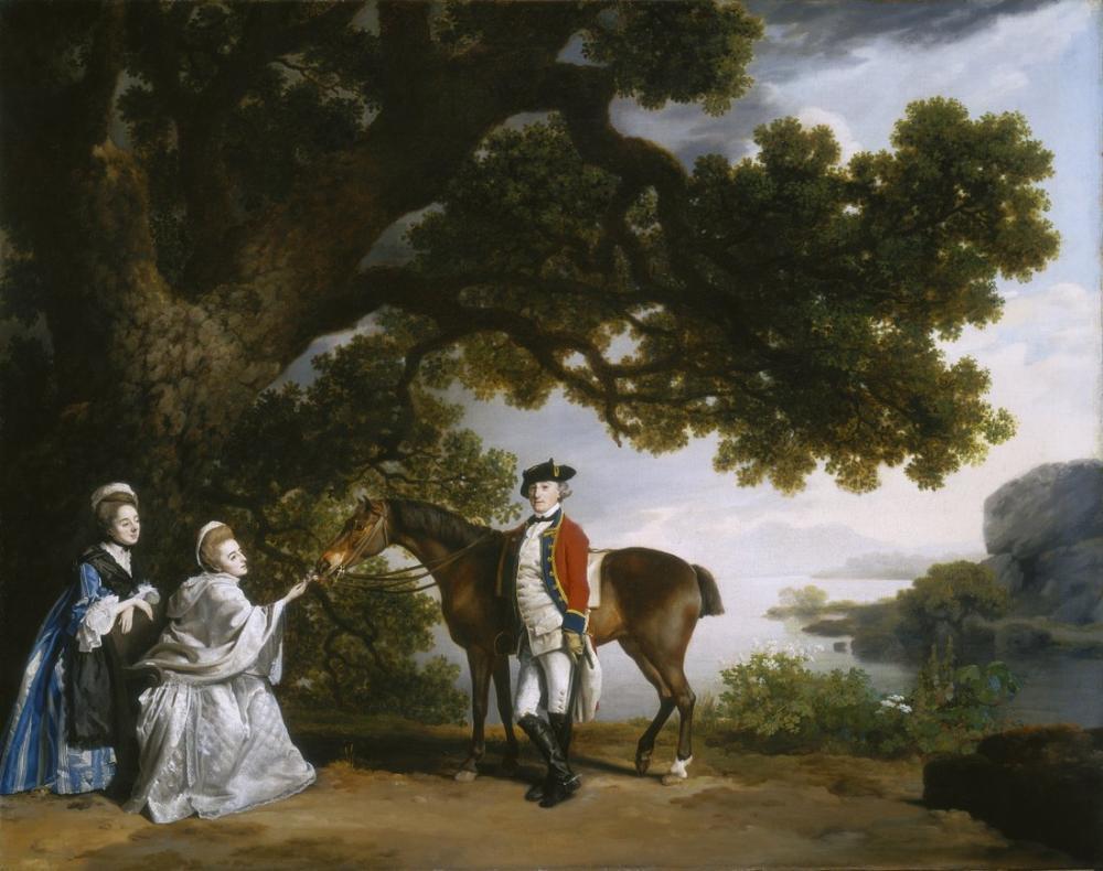 George Stubbs, Captain Samuel Sharpe Pocklington with His Wife, Canvas, George Stubbs, kanvas tablo, canvas print sales