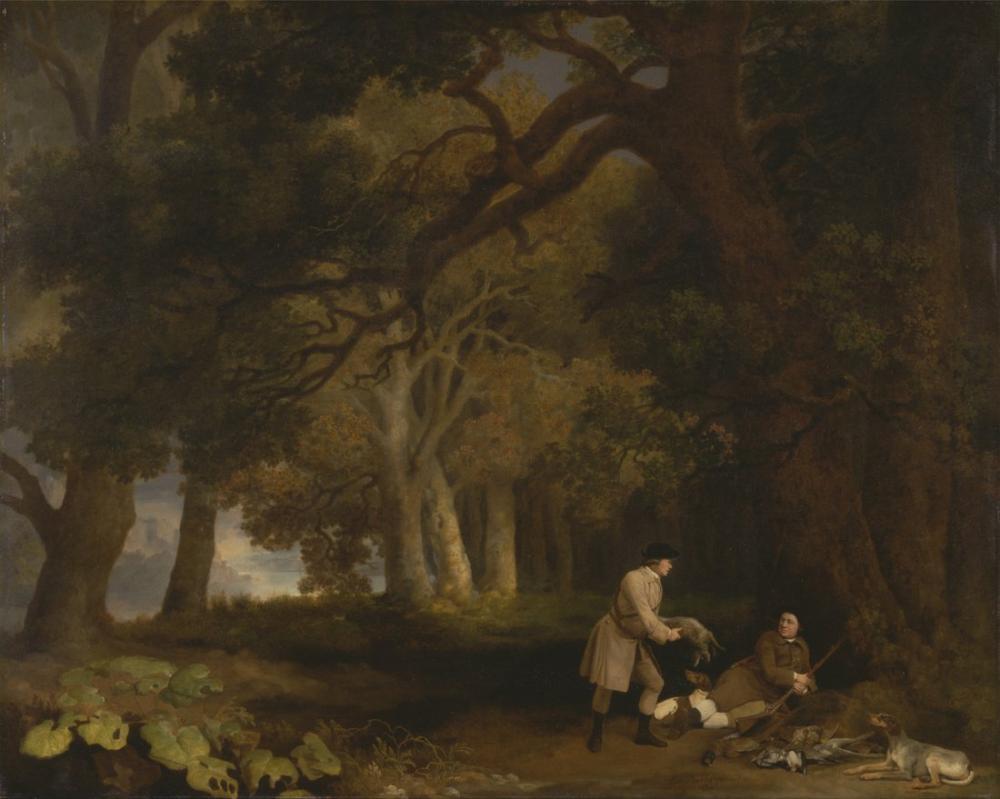 George Stubbs, Av Sonrası Dinlenmek, Kanvas Tablo, George Stubbs, kanvas tablo, canvas print sales