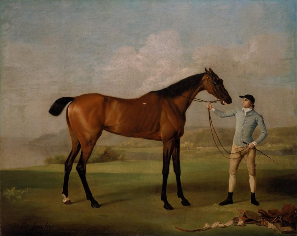 George Stubbs, Molly Long Legs with Her Jockey, Canvas, George Stubbs, kanvas tablo, canvas print sales