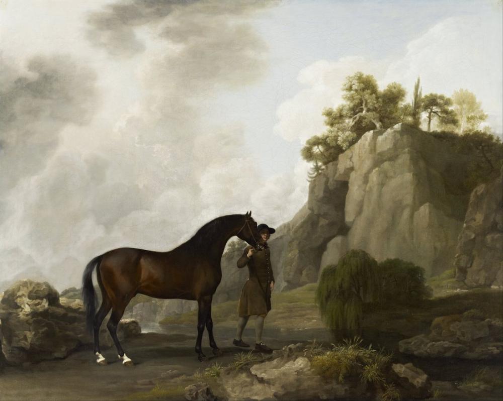 George Stubbs, Rockinghams Arap Aygırı Marquess, Kanvas Tablo, George Stubbs, kanvas tablo, canvas print sales