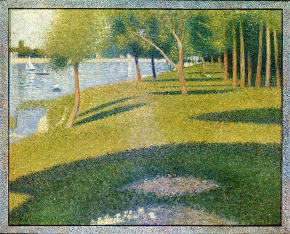 Georges Seurat La Grande Jatte Oil Painting, Canvas, Georges Seurat