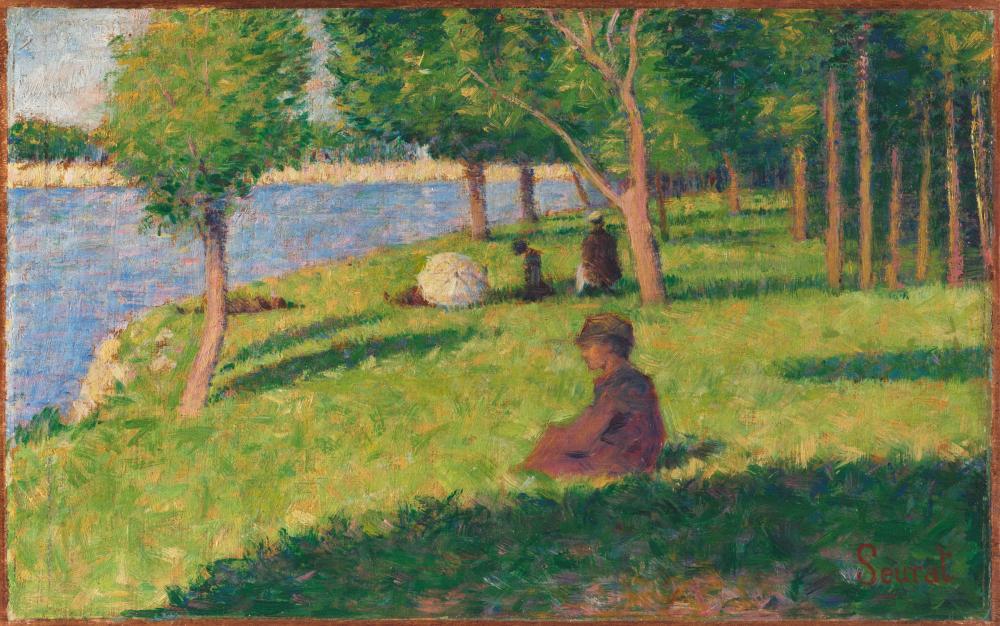 Georges Seurat Seated Figures Oil Painting, Figure, Georges Seurat