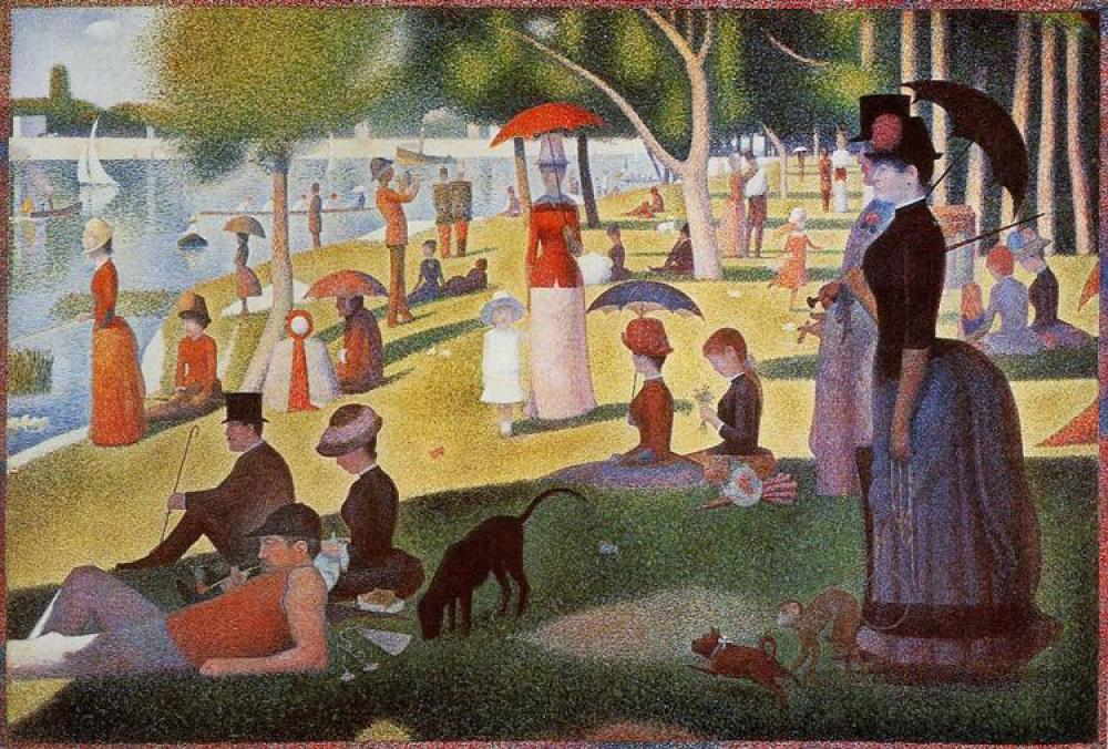 Georges Seurat, Sunday Afternoon On The Island Of La Grande Jatte, Canvas, Georges Seurat, kanvas tablo, canvas print sales
