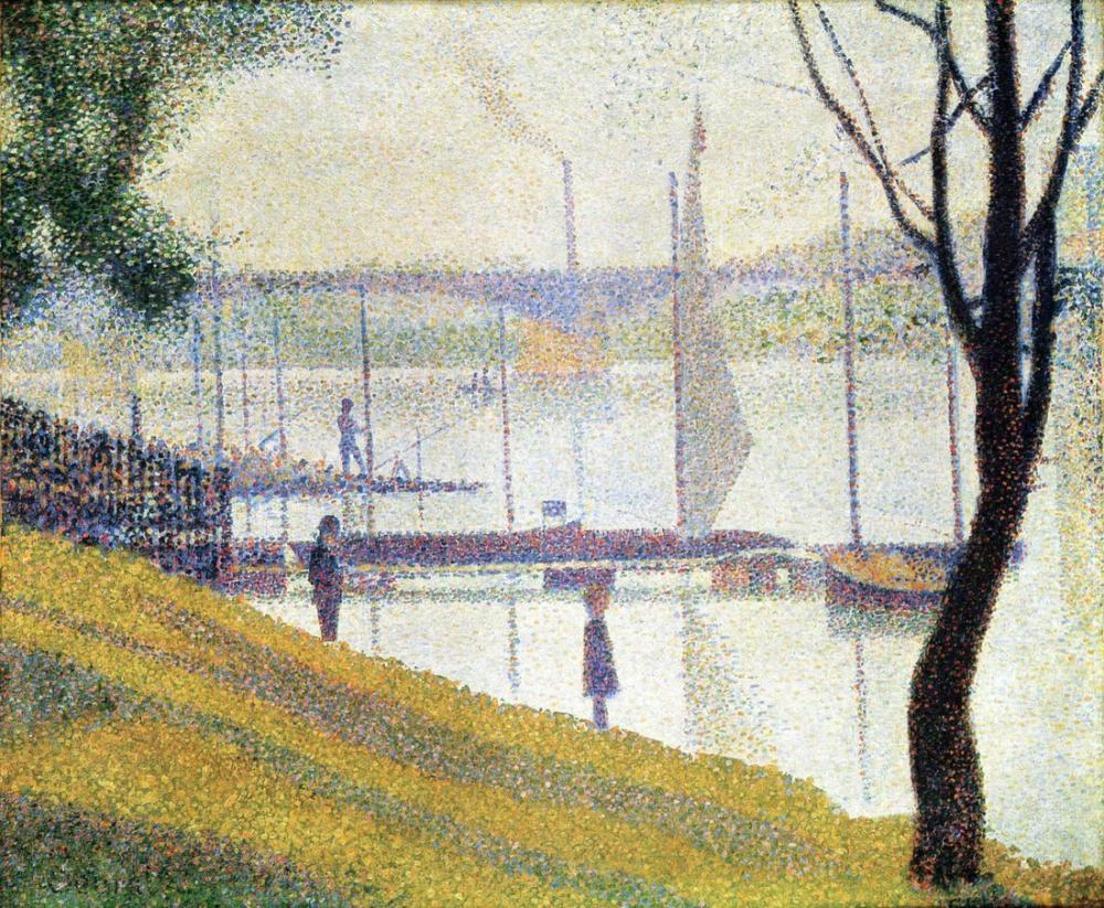 Georges Seurat Pont Köprüsü, Kanvas Tablo, Georges Seurat, kanvas tablo, canvas print sales