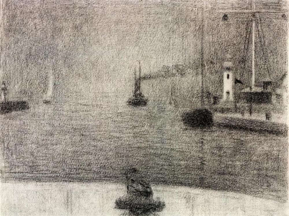 Georges Seurat The Port Of Honfleur, Canvas, Georges Seurat, kanvas tablo, canvas print sales