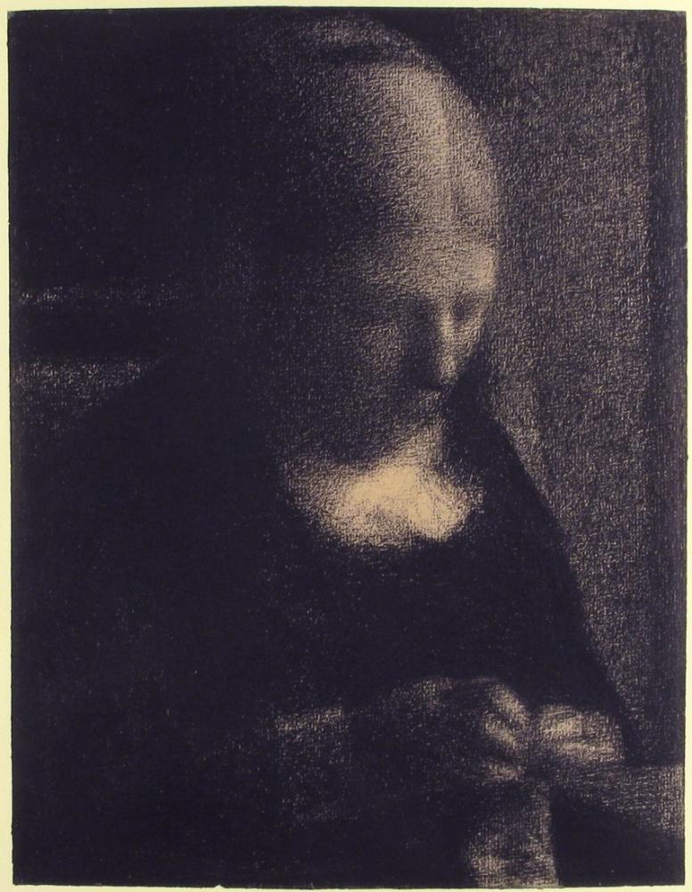 Georges Seurat, Sanatçının Annesi, Kanvas Tablo, Georges Seurat, kanvas tablo, canvas print sales