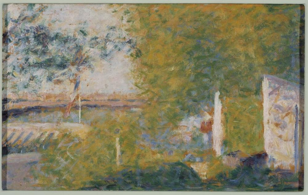 Georges Seurat, The Bridge at Bineau, Figure, Georges Seurat