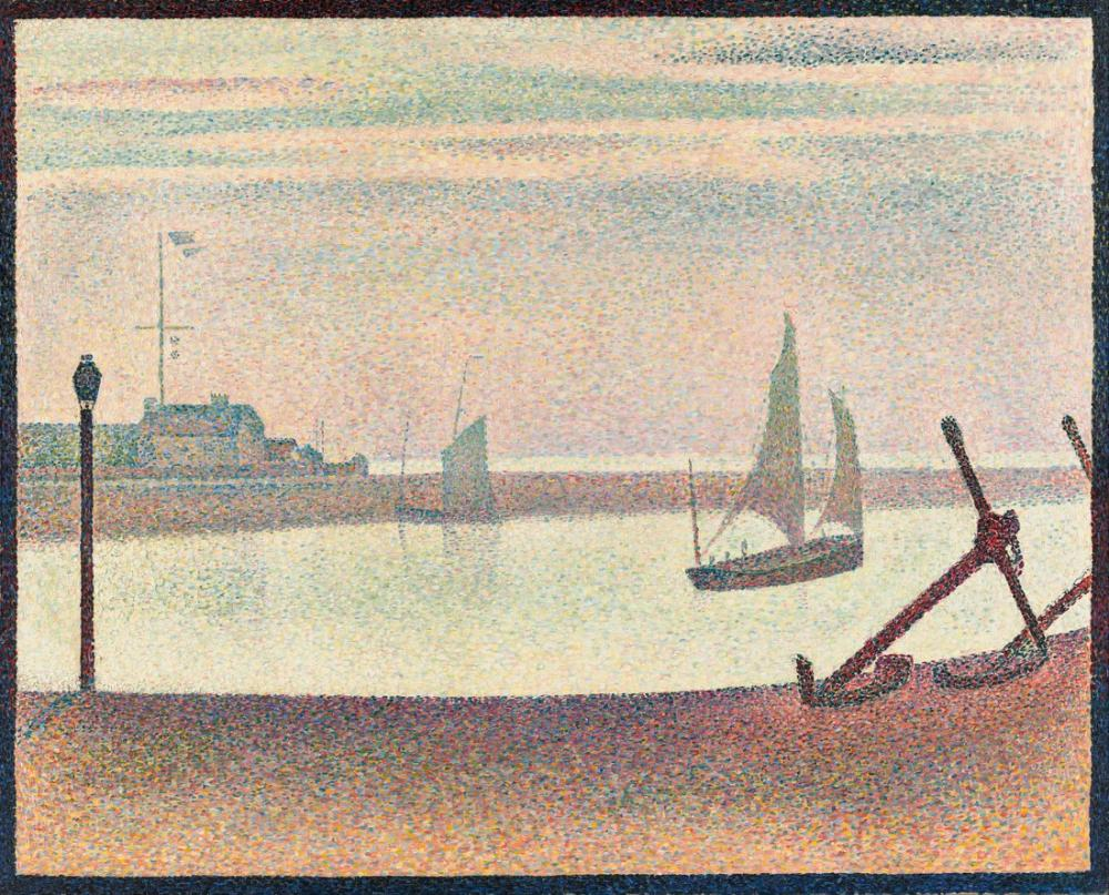 Georges Seurat, The Channel at Gravelines Evening, Canvas, Georges Seurat, kanvas tablo, canvas print sales