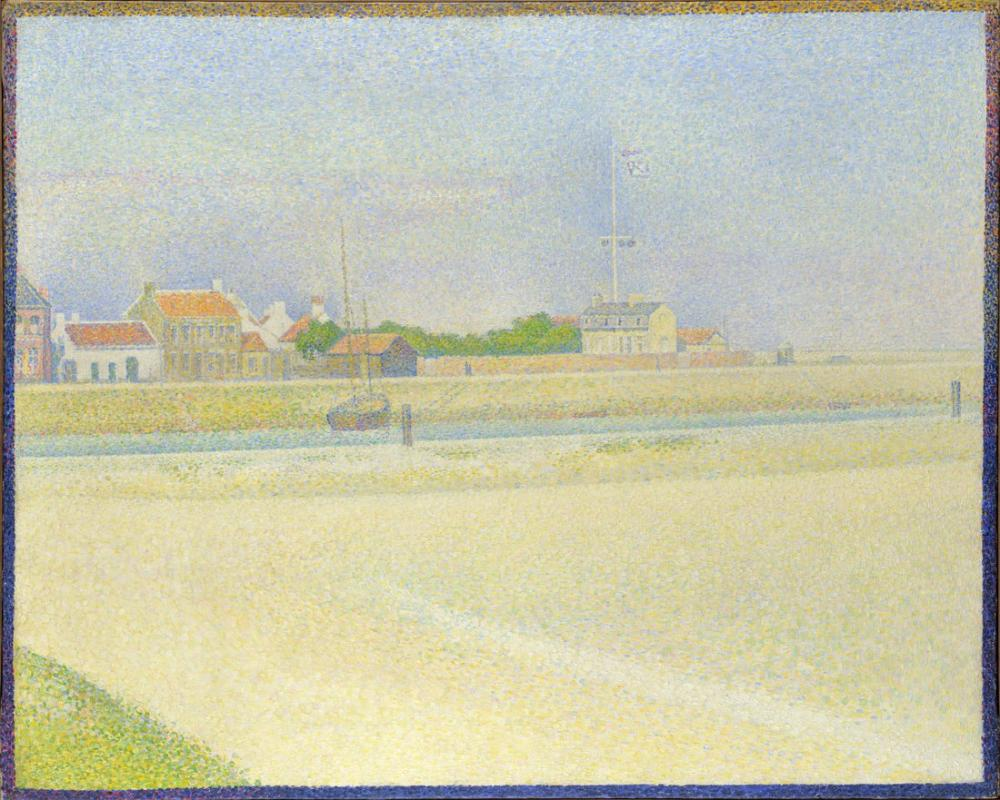 Georges Seurat, Gravelines Grand Fort Philippe de Kanal, Kanvas Tablo, Georges Seurat, kanvas tablo, canvas print sales