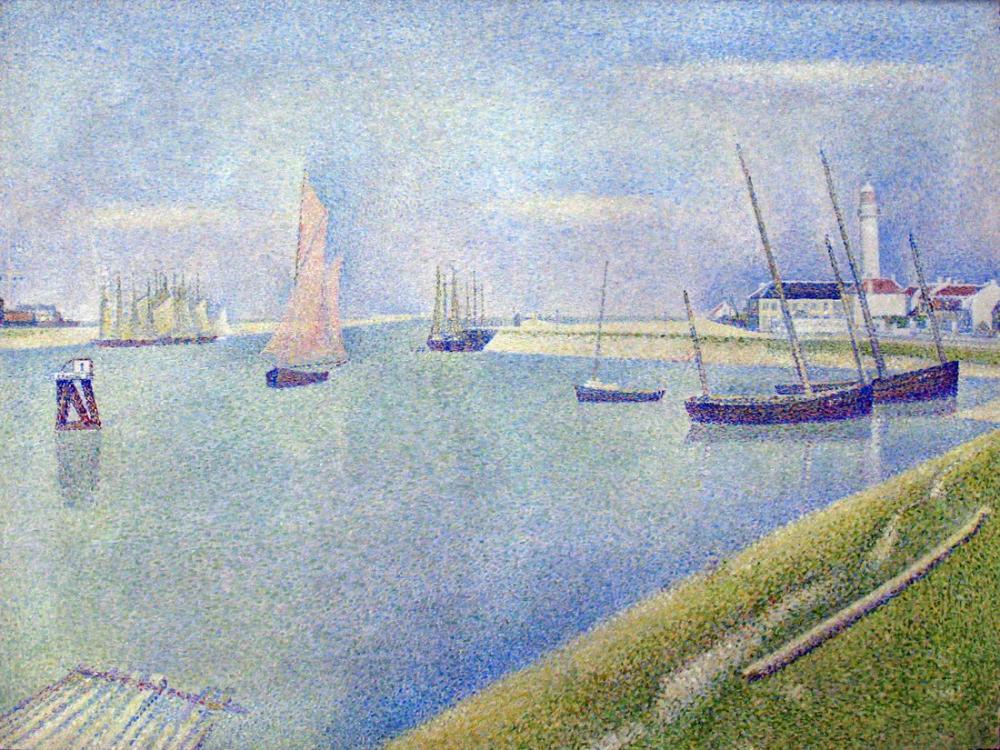 Georges Seurat, Çakılların Kanalı, Kanvas Tablo, Georges Seurat, kanvas tablo, canvas print sales