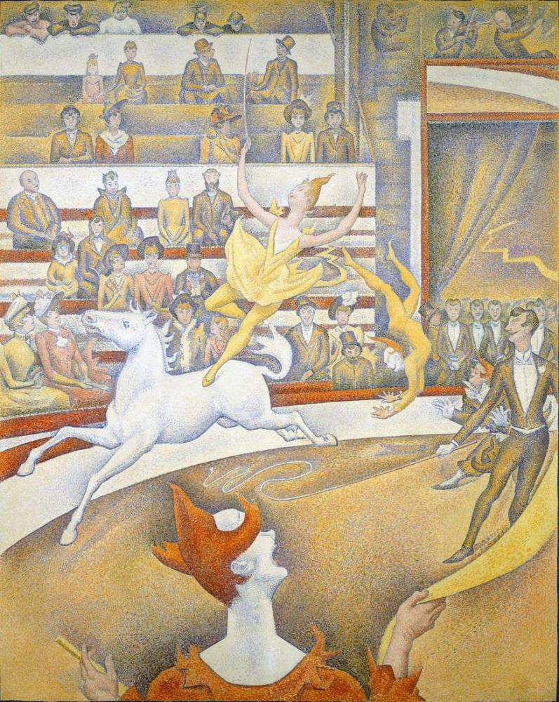 Georges Seurat, The Circus, Figure, Georges Seurat, kanvas tablo, canvas print sales