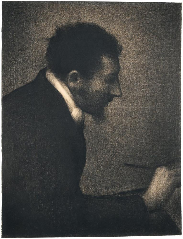 Georges Seurat, Portrait of Edmond François Aman Jean, Canvas, Georges Seurat, kanvas tablo, canvas print sales