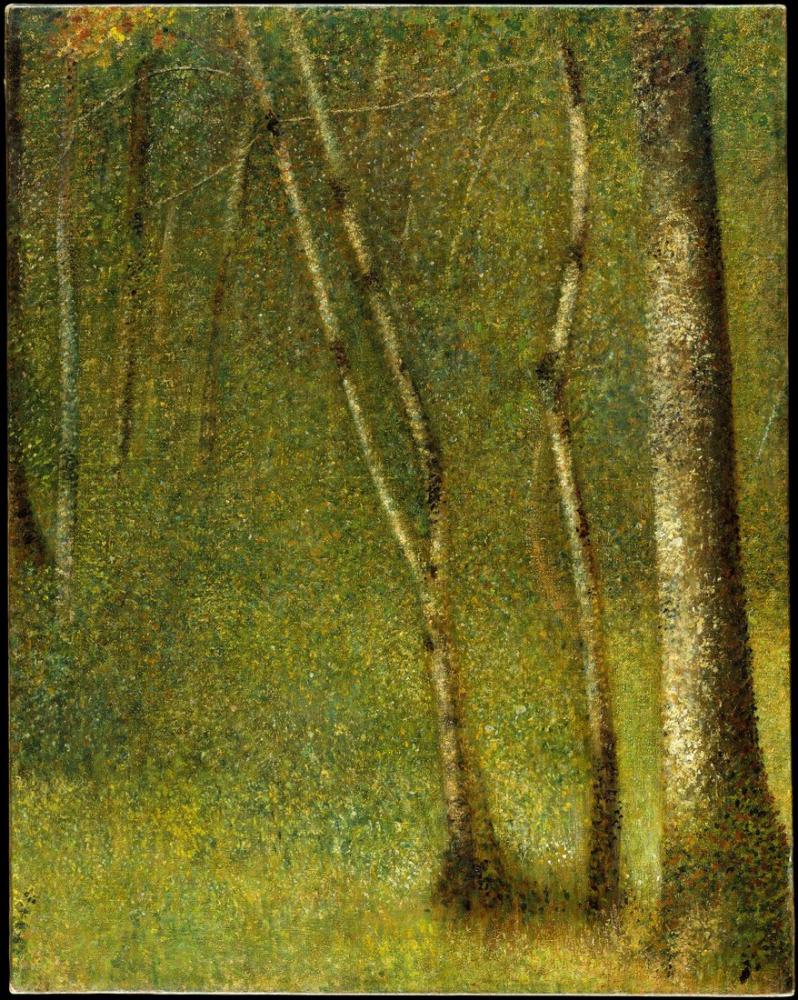 Georges Seurat, Pontaubert Ormanı, Kanvas Tablo, Georges Seurat, kanvas tablo, canvas print sales