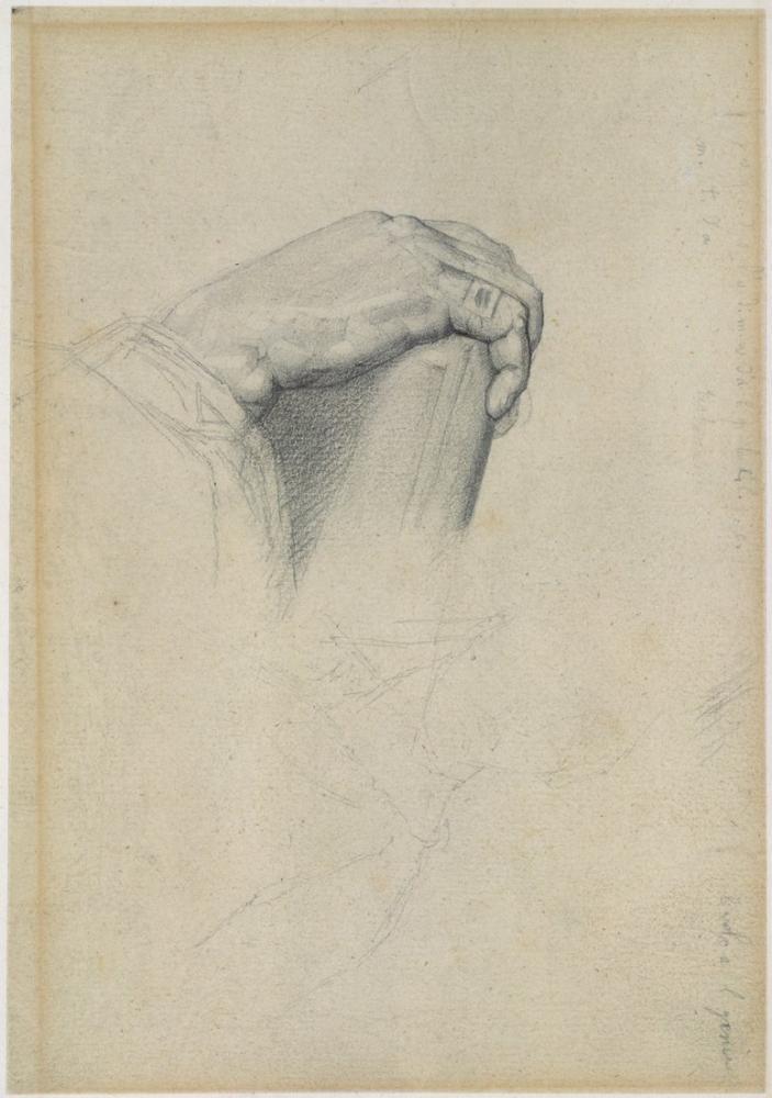 Georges Seurat, The Hand of Poussin after Ingres, Figure, Georges Seurat, kanvas tablo, canvas print sales