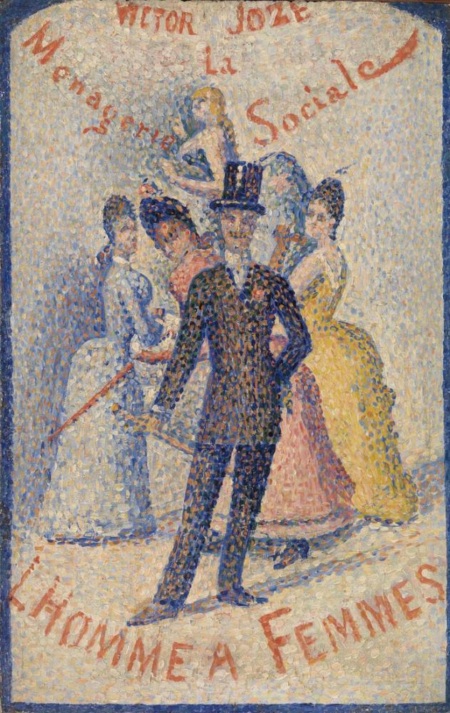 Georges Seurat, The Ladies, Figure, Georges Seurat