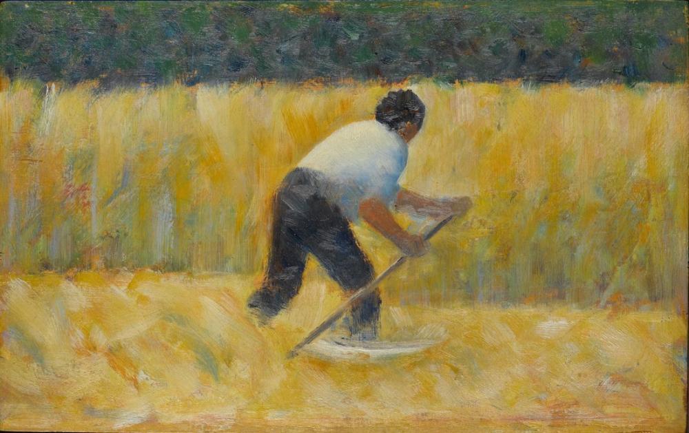 Georges Seurat, Tırpancı, Kanvas Tablo, Georges Seurat, kanvas tablo, canvas print sales