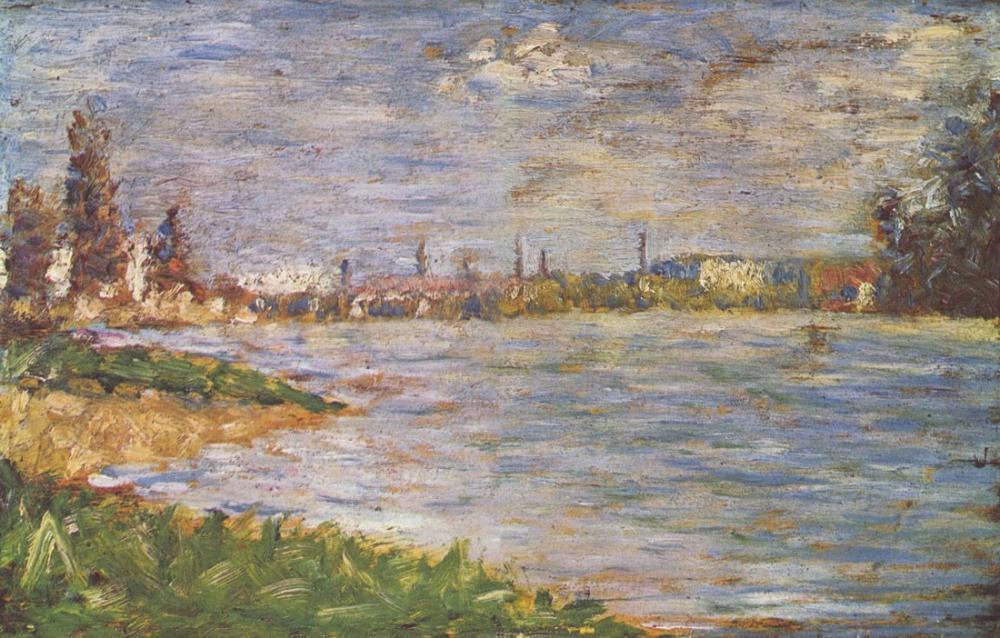 Georges Seurat, Nehir Kıyıları, Kanvas Tablo, Georges Seurat, kanvas tablo, canvas print sales
