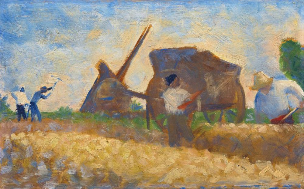 Georges Seurat, The Stone Breakers, Figure, Georges Seurat, kanvas tablo, canvas print sales