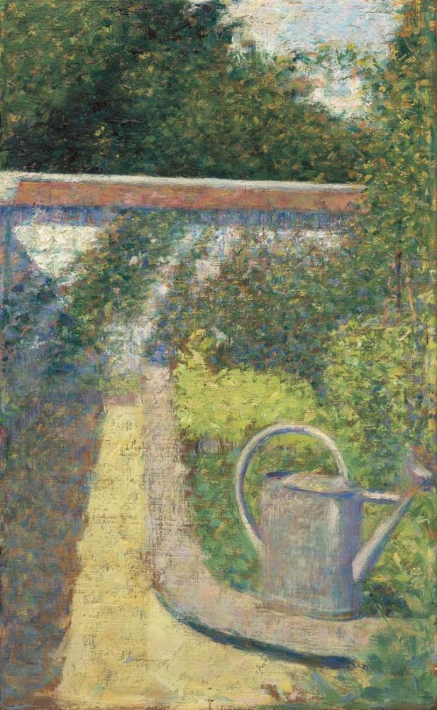 Georges Seurat, The Watering Can Garden at Le Raincy, Canvas, Georges Seurat, kanvas tablo, canvas print sales