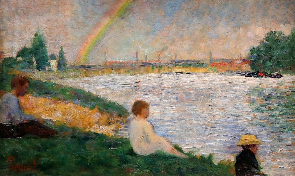 Georges Seurat, Asnières de Yıkananlara Gökkuşağı Çalışması, Kanvas Tablo, Georges Seurat, kanvas tablo, canvas print sales