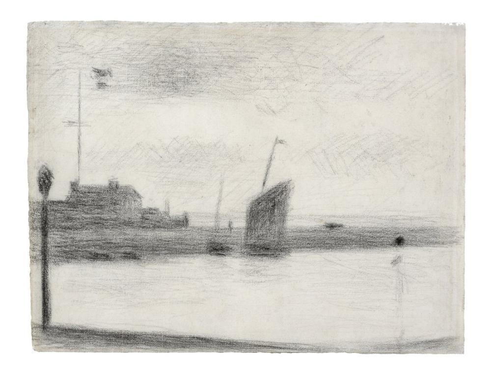 Georges Seurat, Un Soir Gravelines, Canvas, Georges Seurat, kanvas tablo, canvas print sales