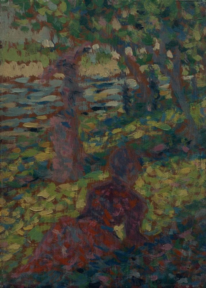 Georges Seurat, Woman in a Park, Figure, Georges Seurat, kanvas tablo, canvas print sales