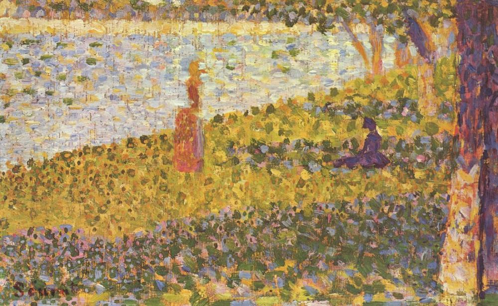 Georges Seurat, Deniz Kenarındaki Kadınlar, Figür, Georges Seurat, kanvas tablo, canvas print sales