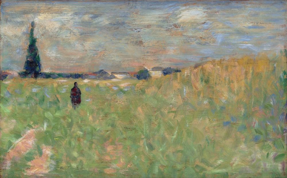 Georges Seurat, A Summer Landscape, Figure, Georges Seurat