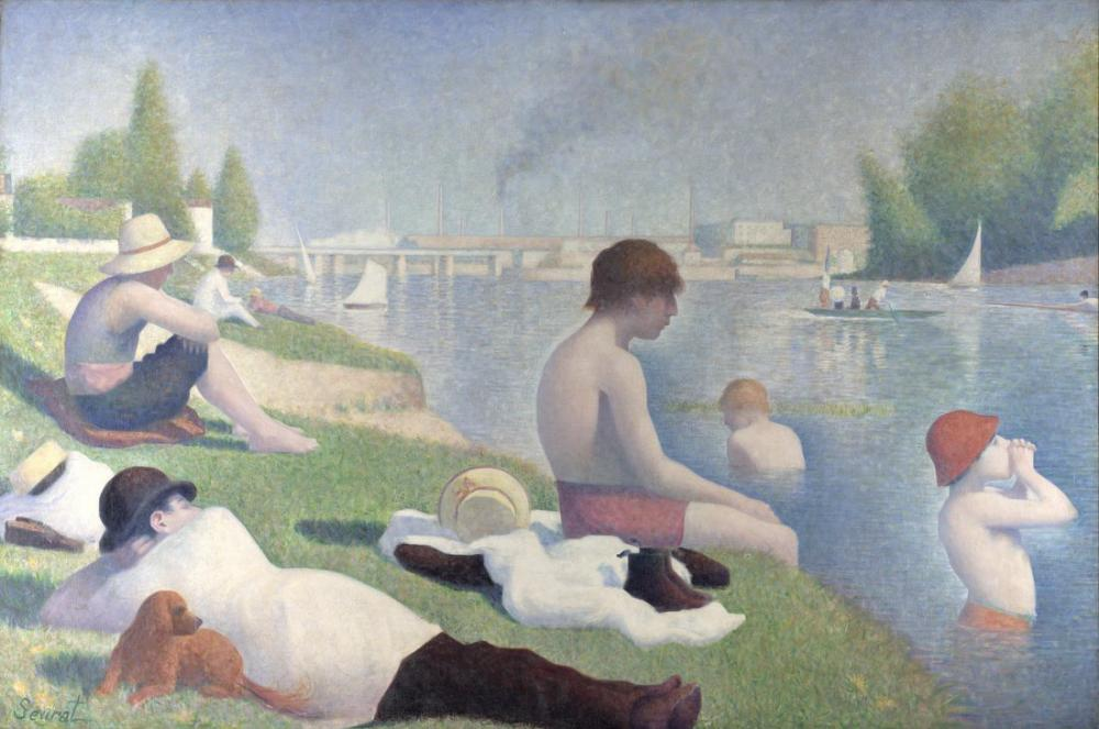 Georges Seurat, Asnières de Yıkananlara, Kanvas Tablo, Georges Seurat, kanvas tablo, canvas print sales