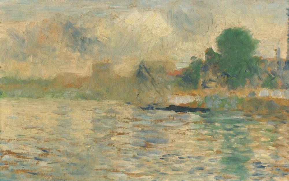Georges Seurat, Berge de la Seine, Canvas, Georges Seurat, kanvas tablo, canvas print sales