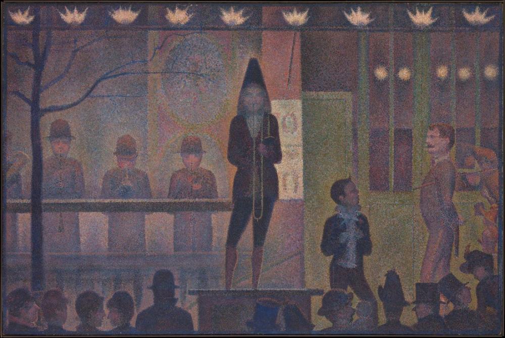 Georges Seurat, Circus Sideshow, Figure, Georges Seurat, kanvas tablo, canvas print sales