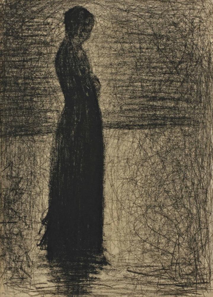 Georges Seurat, Dans un parc vers Hauke, Figure, Georges Seurat, kanvas tablo, canvas print sales