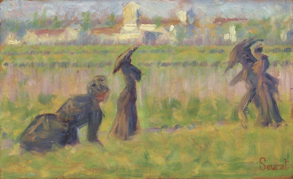 Georges Seurat, Bir Manzaradaki Figürler, Figür, Georges Seurat, kanvas tablo, canvas print sales