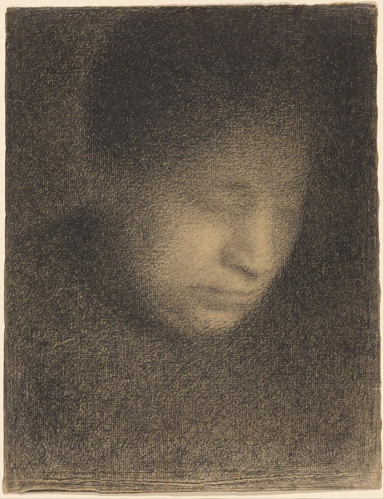 Georges Seurat, Fransız Madam Sanatçının Annesi, Figür, Georges Seurat, kanvas tablo, canvas print sales
