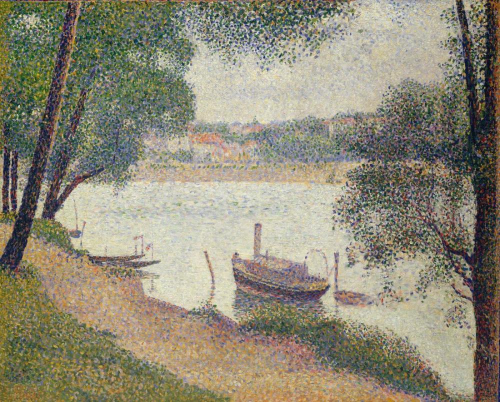 Georges Seurat, Gray Weather Grande Jatte, Canvas, Georges Seurat, kanvas tablo, canvas print sales