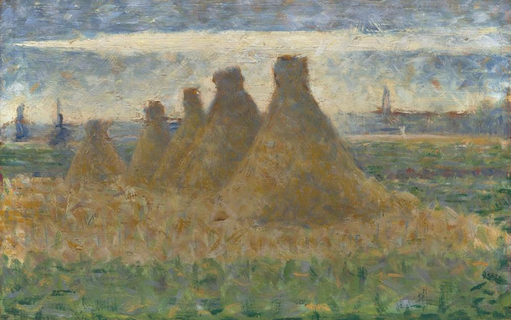 Georges Seurat, Saman Balyaları, Kanvas Tablo, Georges Seurat, kanvas tablo, canvas print sales