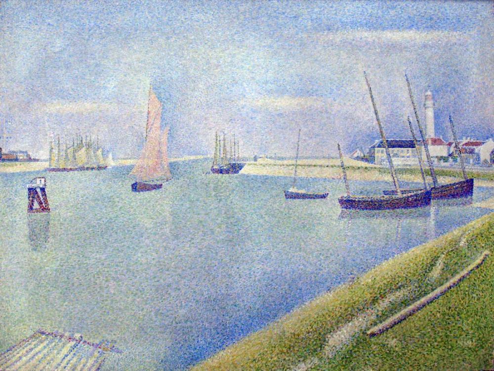 Georges Seurat, Denizin Yönünde Gravelines de Kanal, Kanvas Tablo, Georges Seurat, kanvas tablo, canvas print sales