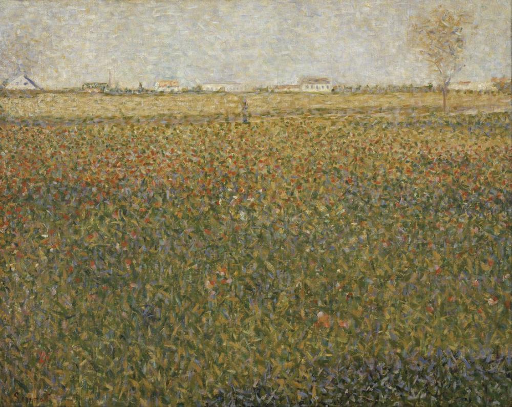 Georges Seurat, La Luzerne Saint Denis, Kanvas Tablo, Georges Seurat, kanvas tablo, canvas print sales