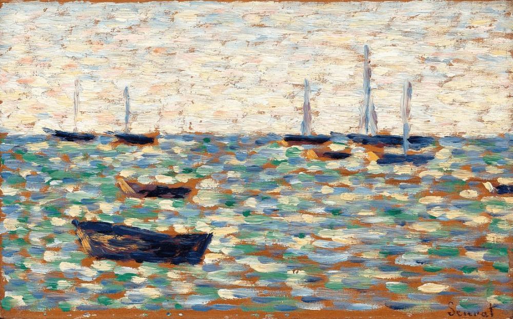 Georges Seurat, La Mer á Grandcamp, Figure, Georges Seurat, kanvas tablo, canvas print sales