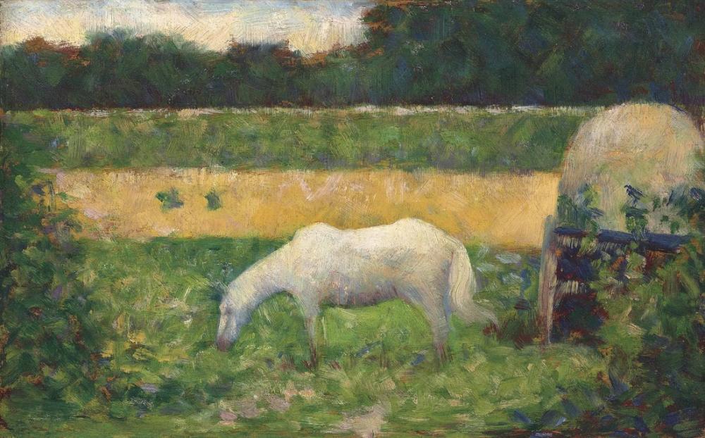 Georges Seurat, Landscape with Horse, Canvas, Georges Seurat