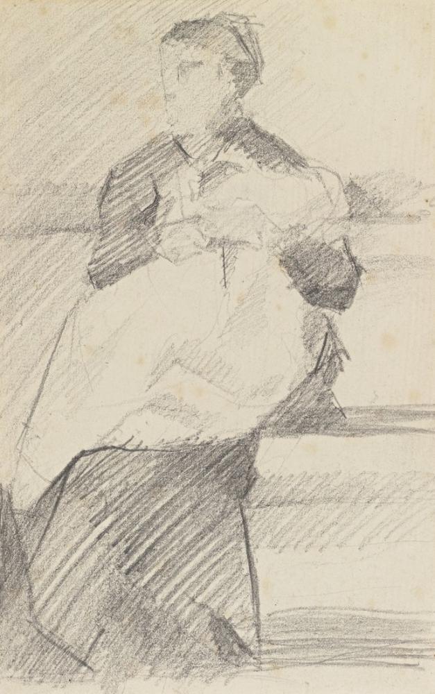 Georges Seurat, Hemşire, Figür, Georges Seurat, kanvas tablo, canvas print sales