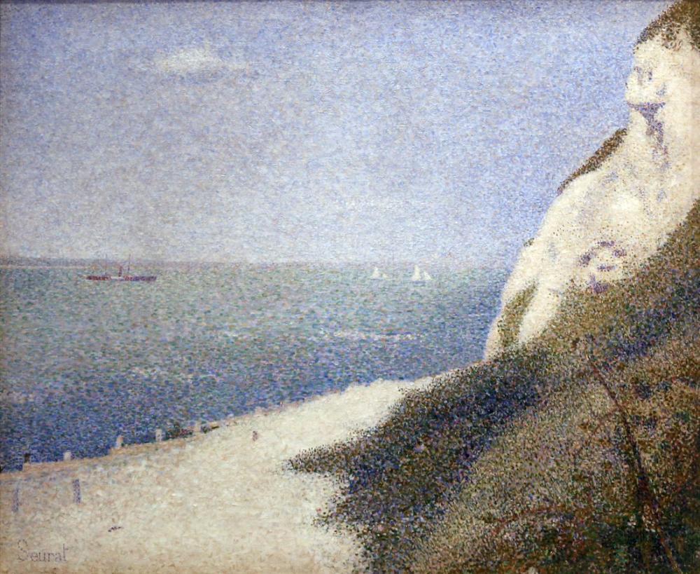 Georges Seurat, Honfleur daki Sottovento Nehri, Kanvas Tablo, Georges Seurat, kanvas tablo, canvas print sales
