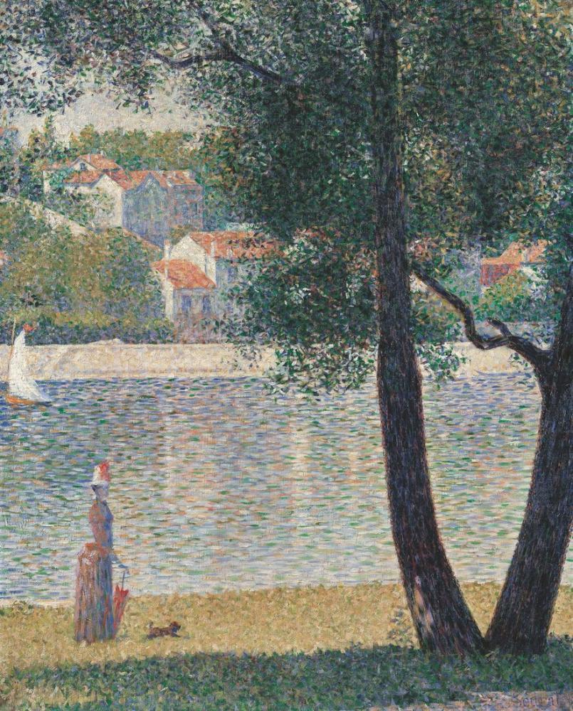 Georges Seurat, la Seine à Courbevoie, Canvas, Georges Seurat, kanvas tablo, canvas print sales